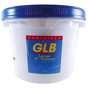 """GLB Trichlor Stabilized Chlorine Tablets 3"""" 25 lb Bucket"""