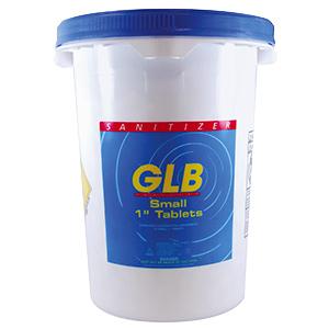 """GLB Trichlor Stabilized Chlorine Tablets 1"""" 50 lb Bucket"""