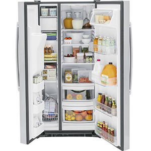 GE 23 Cu Ft Stainless Side-by-Side Refrigerator