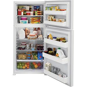 Frigidaire 18 Cu Ft White Top-Freezer Refrigerator