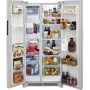 Frigidaire 22.1 Cu Ft White Side-by-Side Refrigerator