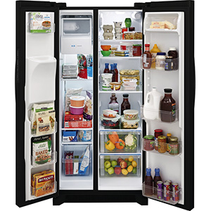 Frigidaire 22.1 Cu Ft Black Side-by-Side Refrigerator