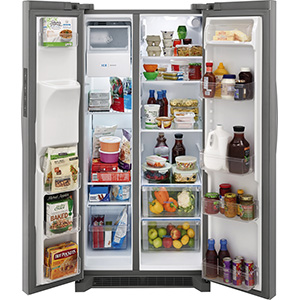 Frigidaire 22.1 Cu Ft Stainless Side-by-Side Fridge