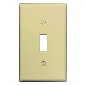 Leviton 1-Gang Switch Wall Plate Ivory