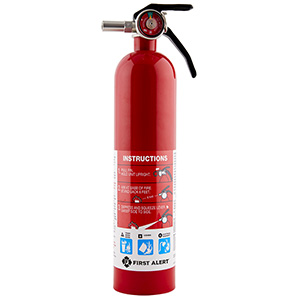 First Alert 2.5lb,1-A:10-B:C Fire Extinguisher, Rechargeable