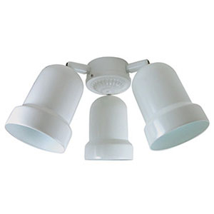LED 3-Arm Metal Bullet Fan Light Kit White