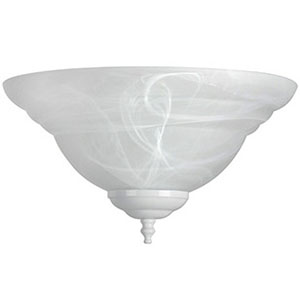 LED Alabaster Bowl Ceiling Fan Light Kit