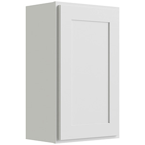 "Luxor White Single Door Wall Cabinet, 9""W x 30""H"