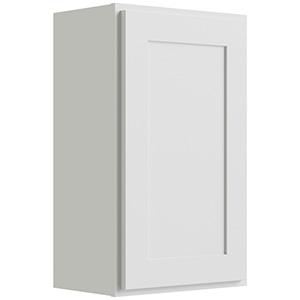 "Luxor White Single Door Wall Cabinet, 18""W x 30""H"