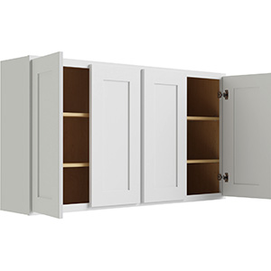 """Luxor White Four Butt Door Wall Cabinet, 48""""W x 30""""H"""