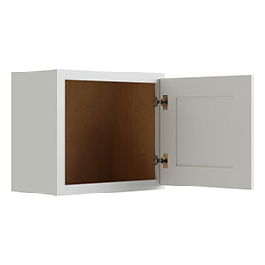 """Luxor White Two Butt Door Wall Cabinet, 21""""W x 18""""H"""