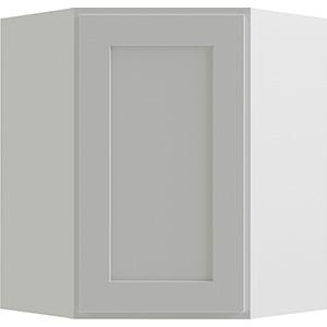 "Luxor White Single Door Corner Wall Cabinet, 24""W x 30""H"