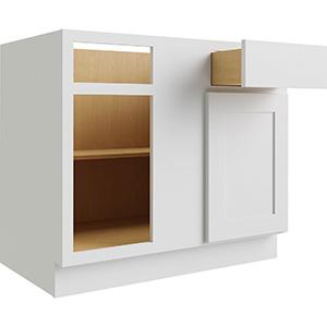 "Luxor White Single Door & Drawer Blind Base Cabinet, 30""W x 24""D"