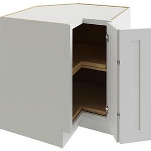 "Luxor White Lazy Susan Corner Base Cabinet, 36"""