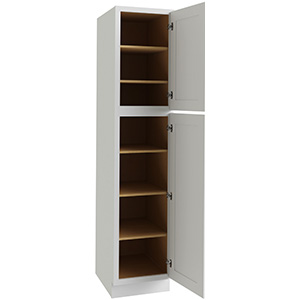 "Luxor White Single Door Utility Cabinet, 18""W x 24""D x 84""H"