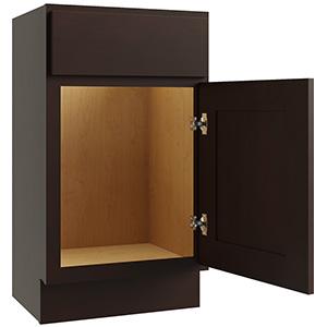"""Luxor Espresso 1-Door Vanity Cabinet, 18""""W x 16""""D, LU11-V1816"""