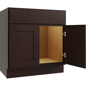 """Luxor Espresso 2-Door Vanity Cabinet, 30""""W x 21""""D, LU11-V3021"""
