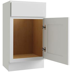 "Luxor White 1-Door Vanity Base 18""W x 16""D, L10-V1816-34.5"