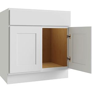 "Luxor White 2-Door Vanity Base 30""W x 21""D, L10-V3021-34.5"