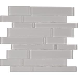 Brilliance Linear Mosaic Glass Tile, White
