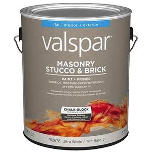 Valspar Exterior Masonry Stucco Base-1 Paint Gallon