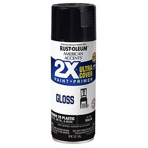 Gloss Black American Accents 2X Ultra Spray Paint