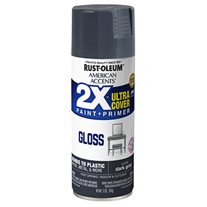 Gloss Gray American Accents 2X Ultra Spray Paint