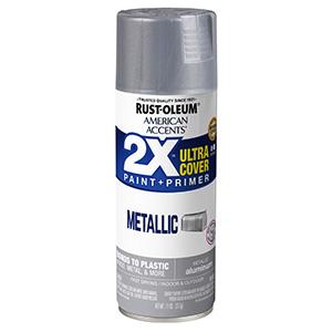 Gloss Aluminum American Accents 2X Ultra Spray Paint