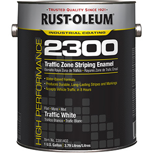 Rustoleum White Traffic Paint Gallon