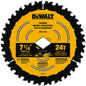 "7-1/4"" 24-Tooth Circular Saw Blade"